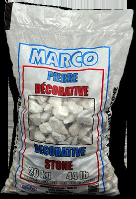Sable Marco Inc.-Decorative Stone White Marble 3/4